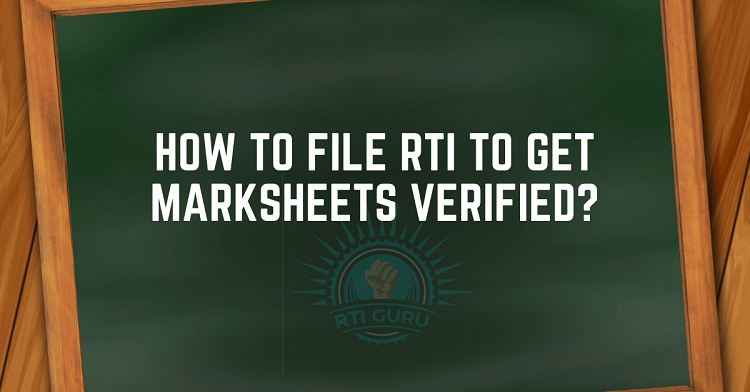 second rti application marksheet verification