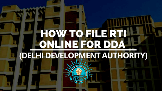 How to file RTI Online for DDA (Delhi Development Authority)