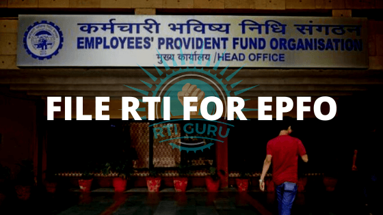 second rti application file an rti application for epfo?