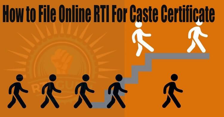 second rti application rti for caste certificate