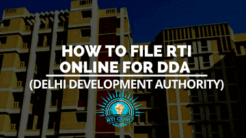 Apply RTI for DDA (Delhi Development Authority)