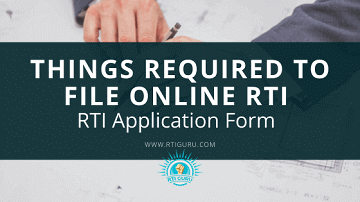 Important things required to file Online RTI Application?