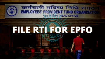 File an RTI application for EPFO?