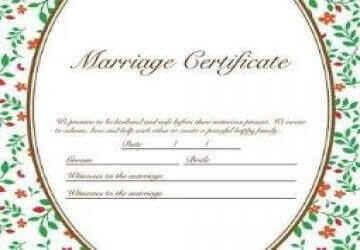 marriage certificate and registration