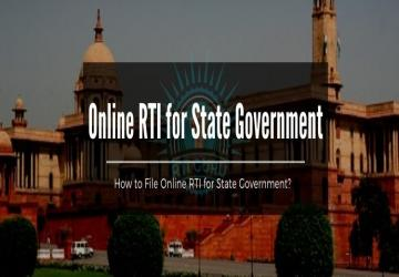 Online RTI for State Government India