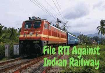 File online RTI Against Indian Railway - Step by Step
