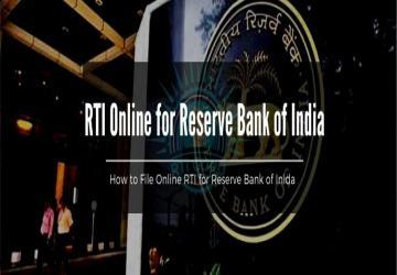 RBI Apply RTI Online