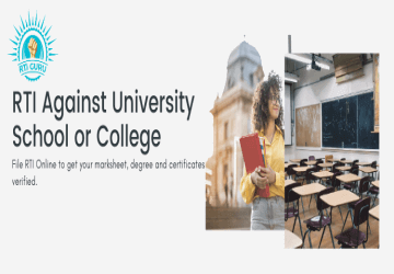 How to File RTI Against University, School, or College?