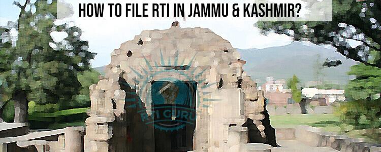 Online RTI Jammu & Kashmir, Apply RTI Jammu & Kashmir