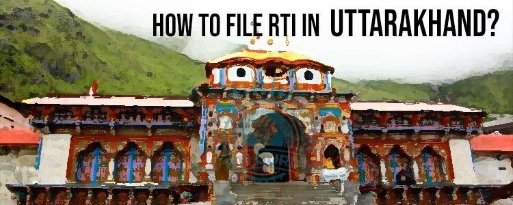 how to file rti for uttarakhand?