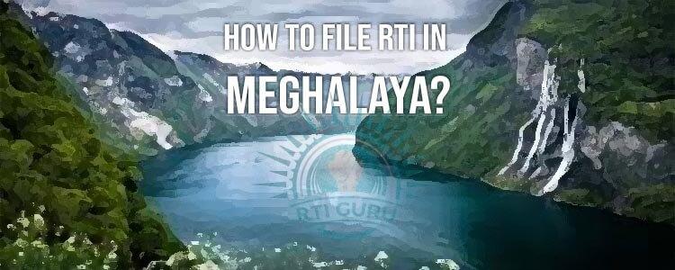 File RTI Online Meghalaya, RTI Online Application Meghalaya