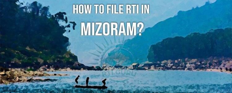 File RTI Online Mizoram, Online RTI Mizoram