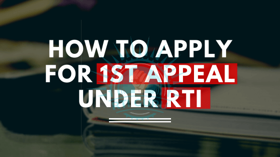 how to file first appeal under rti?