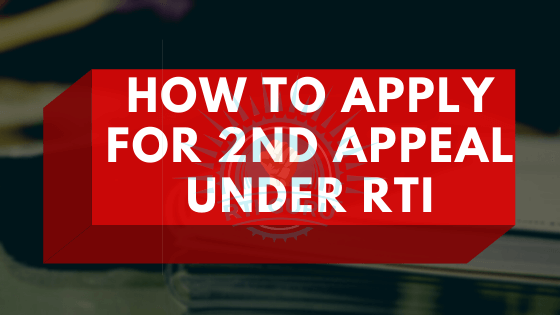 how to file second appeal under rti?