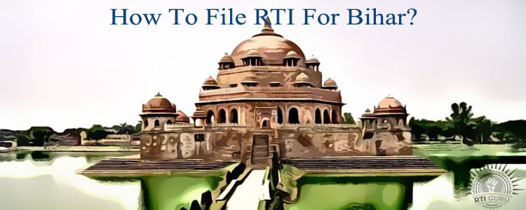 how to file rti for bihar?