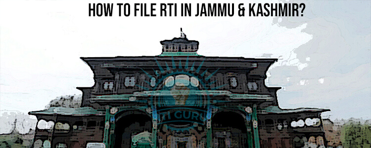 how to file rti for jammu & kashmir?